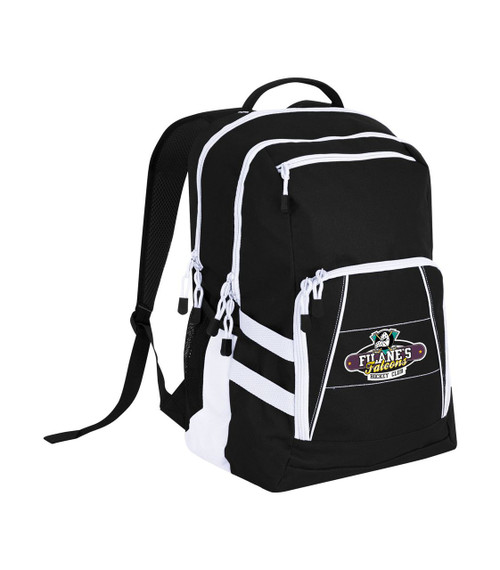 Stylish gym bag with Filane's Falcons hockey logo digitally printed onto the bag.