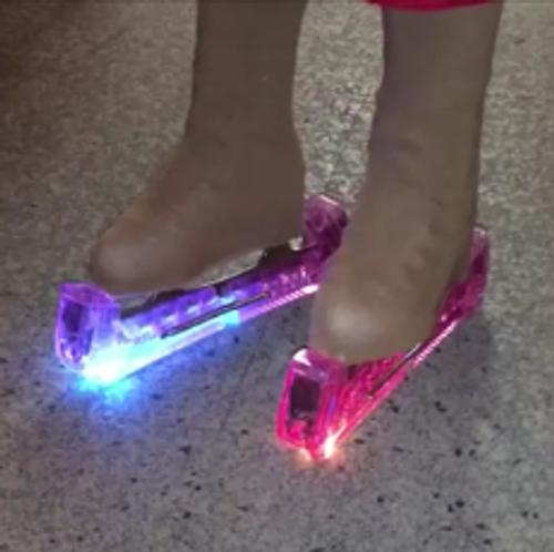 Flashing Fibre Optic Skate Guards