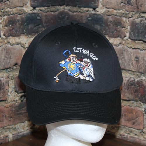 Hockey Fighter Let em' Go  TWILL CAP solid black