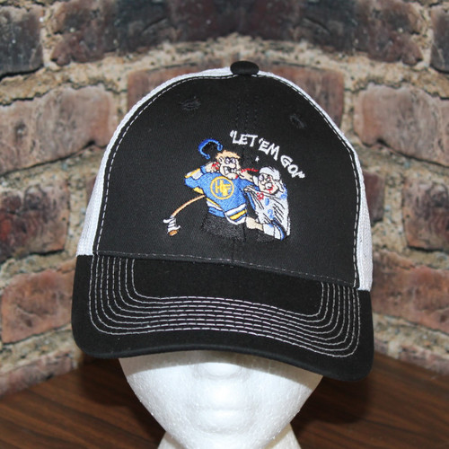 Hockey Fighter Let em go Trucker Style mesh back cap by Hollywoodfilane.com