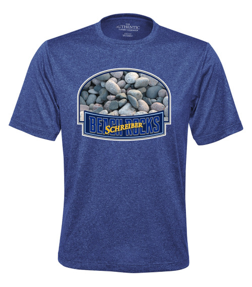 Schreiber Beach Rocks PRO TEAM HEATHER ProFORMANCE TEE - cobalt heather