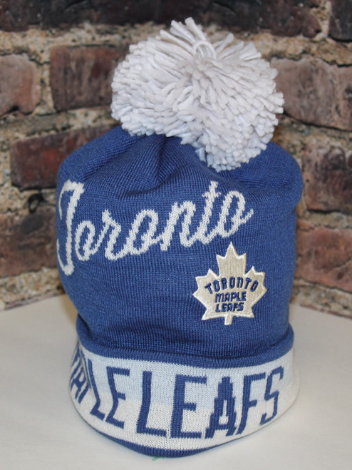 Toronto Maple Leafs ccm NHL Cuffed Pom Toque knit hat