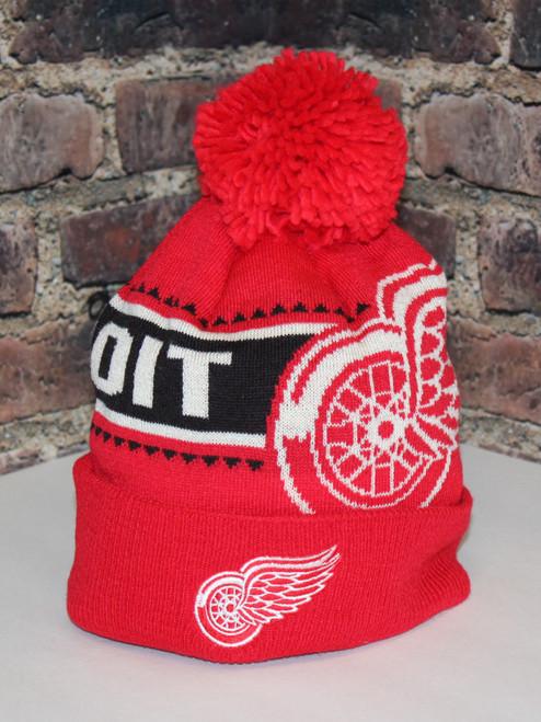Detroit Red Wings  NHL hockey Cuffed Pom Toque knit hat