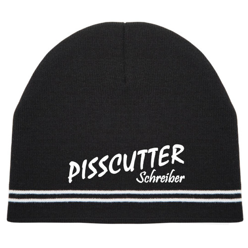 DOUBLE STRIPE KNIT BEANIE Pisscutter Schreiber Hat by Hollywood Filane