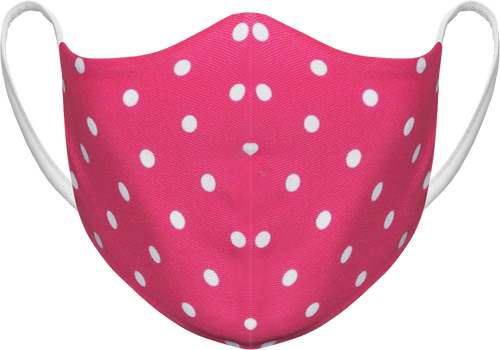 Polka Dots Pink - Reusable Fabric Face Masks