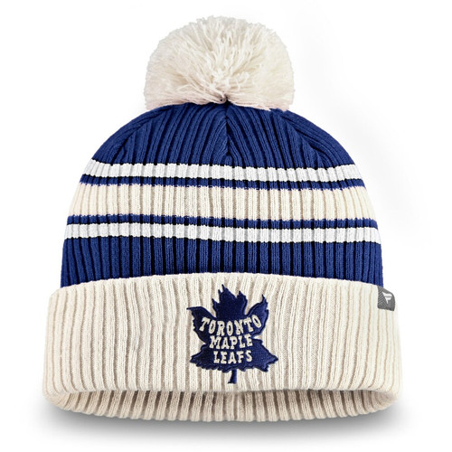 Fanatics Branded True Classic Pom Cuffed Knit Hat Toronto Maple Leafs