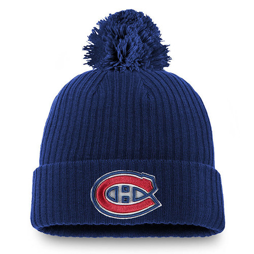 Montreal Canadiens Core Cuffed Knit Pom Beanie.