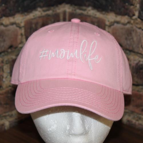 #Momlife Hat - Pink Garment washed cap