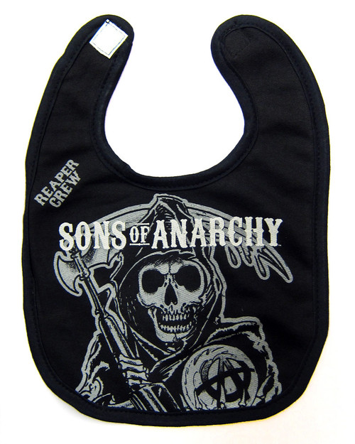 Sons of anarchy baby toddler reaper Crew bib