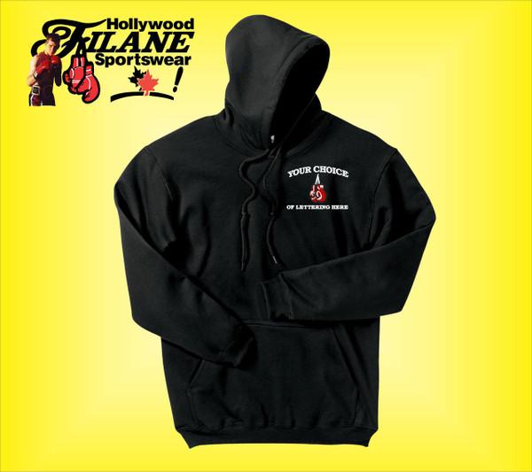Hooded Sweatshirt with custom boxing logo embroidery