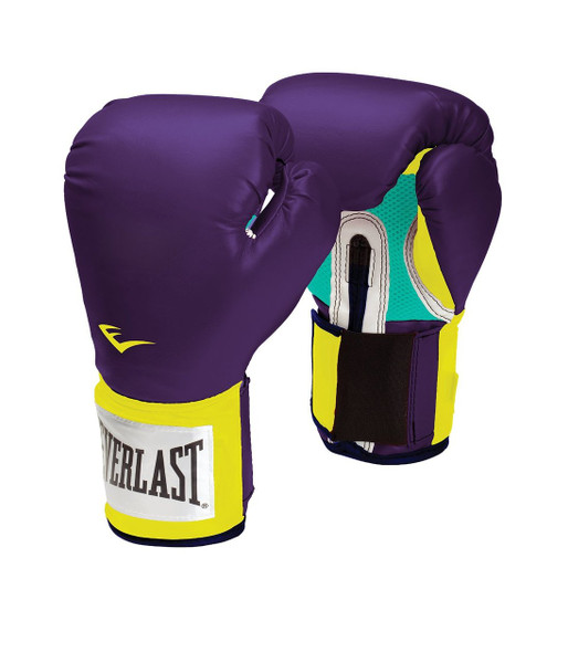 EVERLAST PRO STYLE ELITE TRAINING GLOVES Purple 12 oz