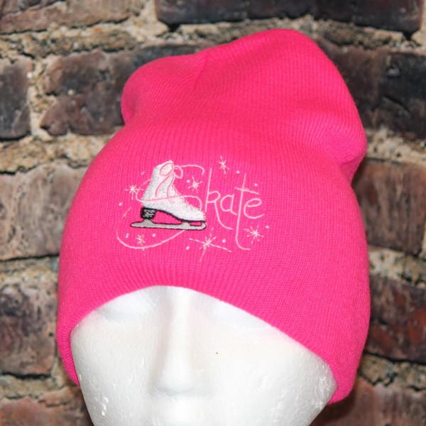 Figure Skating Skate hot pink Beanie Toque