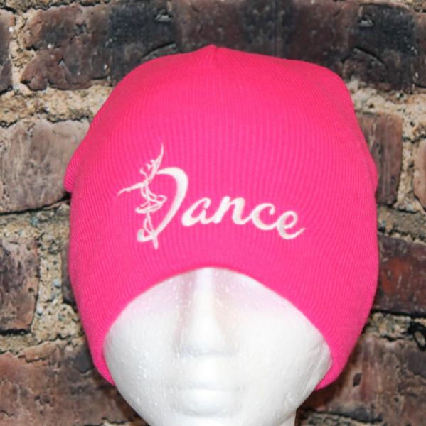 Dance Hot PINK Beanie knit skull cap Toque