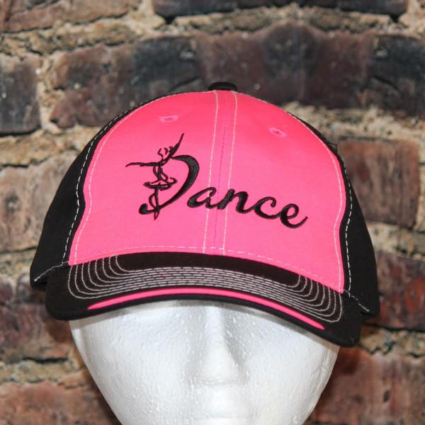 Hot PINK and Black Dance cap