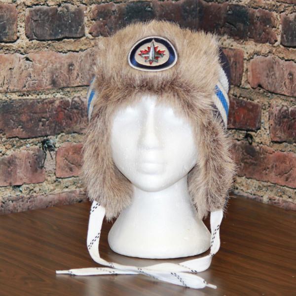 Winnipeg Jets Reebok Blue NHL Center Ice FUR TROOPER Knit Hat