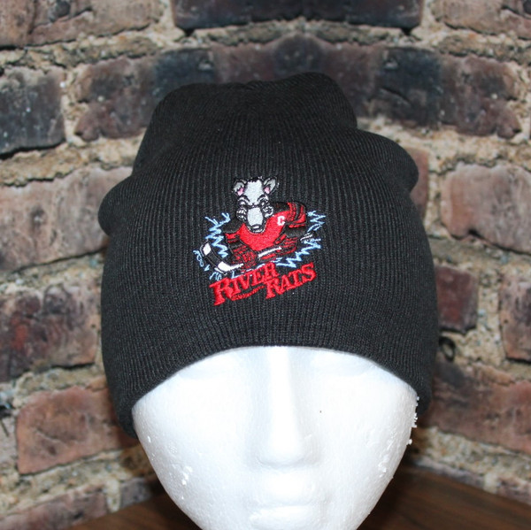 River Rats Hockey logo Black Beanie Toque