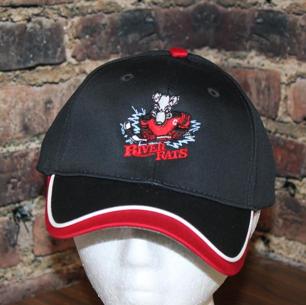 Aguasabon River Rats Hockey Logo wave peak cap