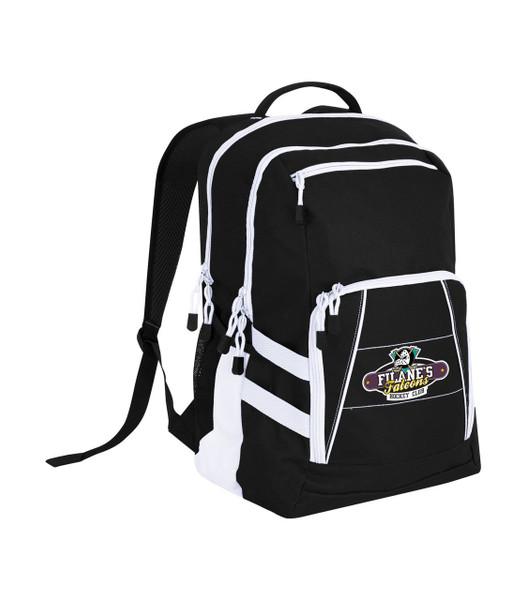 Stylish gym bag with Filane's Falcons hockey logo digitally printed onto the bag.