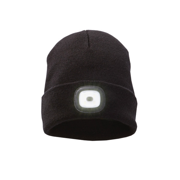 Featuring a removable LED headlight, the Might LED Knit Toque definitely gets your attention. The headlight - which has three brightness settings - pops out of the turn-back cuff for washing and can be charged with a USB cable. As for the toque itself, it's a thick rib knit with crown darts for a shaped fit. A great knit toque for corporate, team and school apparel.