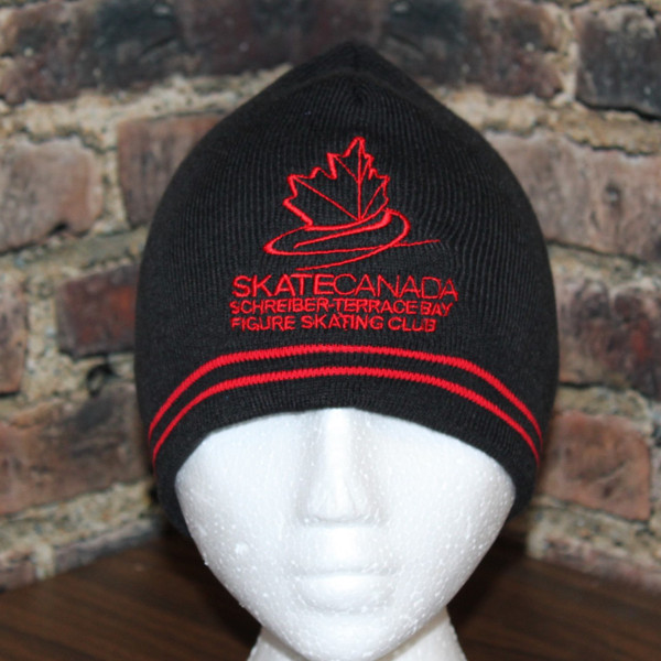 Schreiber Terrace Bay Figure Skating Club Beanie Toque with stripe