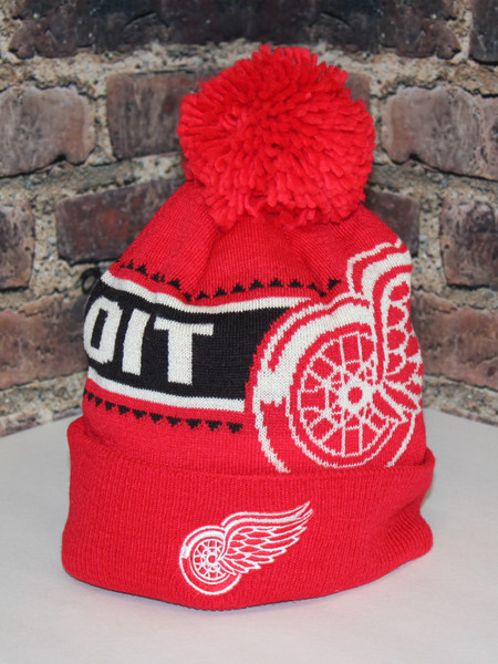 Detroit Red Wings  NHL hockey Cuffed Pom Toque knit hat