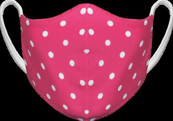 Polka Dots Pink - Reusable Fabric Face Masks