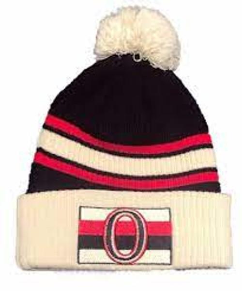 Fanatics Branded True Classic Pom Cuffed Knit Hat Ottawa Senators