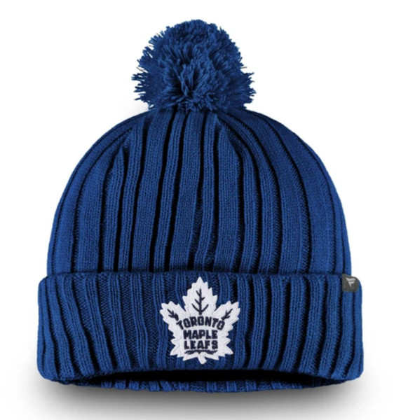 Toronto Maple Leafs Core Cuffed Knit Pom Beanie.