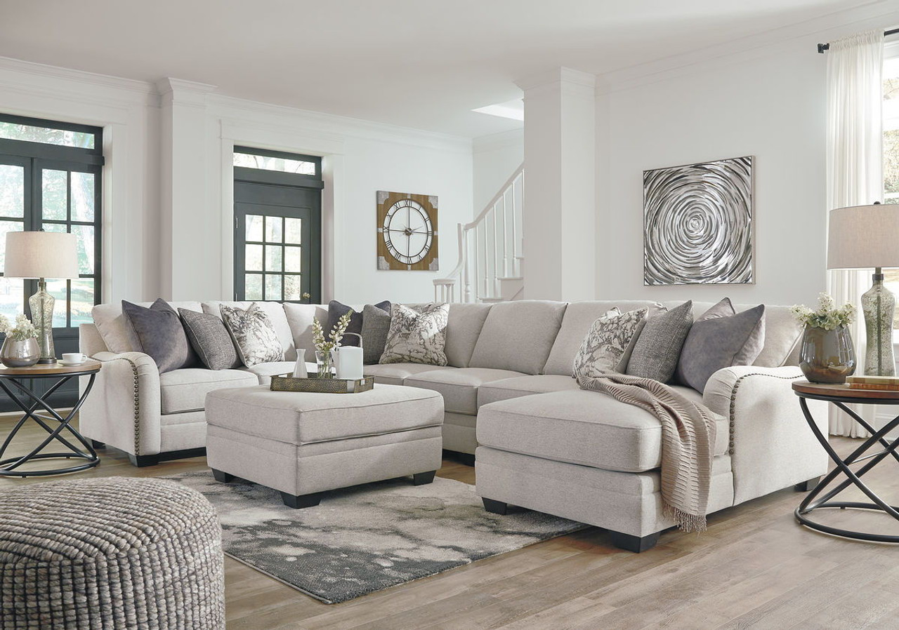 Ashley Dellara Chalk Laf Loveseat Wedge Armless Loveseat Armless Chair Raf Corner Chaise Sectional Ottoman With Storage On Sale At Red Shed Furniture Serving Goldsboro Wilson Greenville Nc