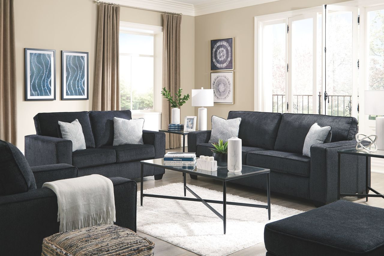 Ashley Altari Slate Sofa Loveseat Chair Ottoman Augeron Table Set On Sale At Red Shed Furniture Serving Goldsboro Wilson Greenville Nc