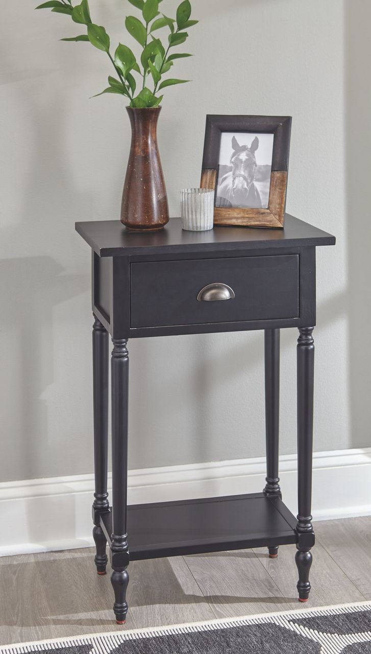 Picture of: Ashley Juinville Black Accent Table On Sale At Red Shed Furniture Serving Goldsboro Wilson Greenville Nc