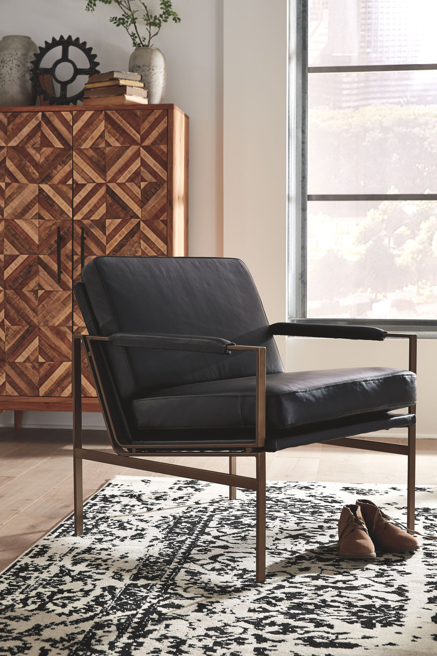 Ashley Puckman Black Accent Chair On Sale At Red Shed Furniture Serving Goldsboro Wilson Greenville Nc