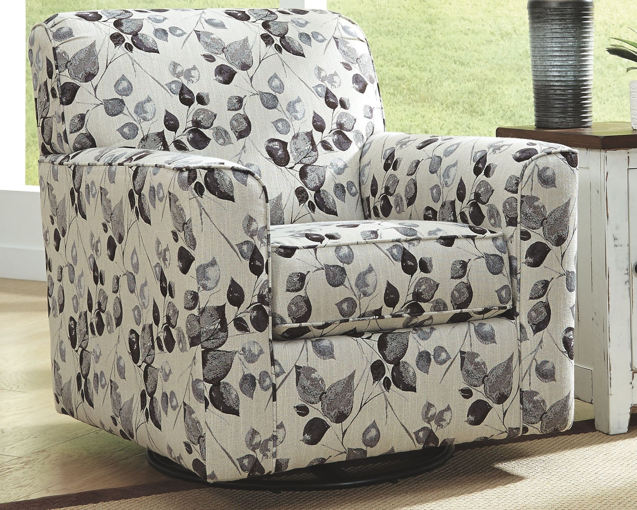 Picture of: Ashley Abney Platinum Swivel Accent Chair On Sale At Red Shed Furniture Serving Goldsboro Wilson Greenville Nc