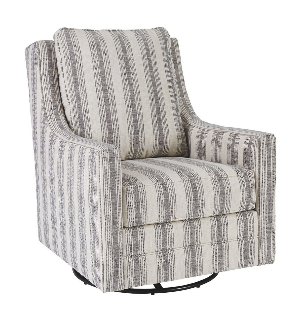 Ashley Kambria Ivory Black Swivel Glider Accent Chair On Sale At Red Shed Furniture Serving Goldsboro Wilson Greenville Nc