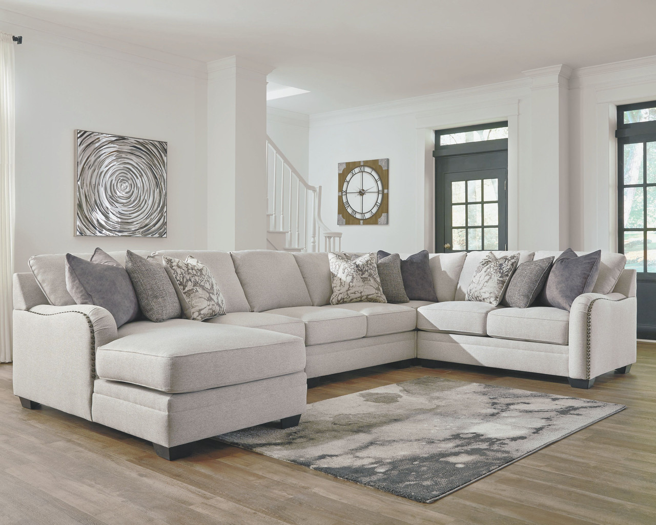 Ashley Dellara Chalk 5 Piece Sectional With Chaise On Sale At Red Shed Furniture Serving Goldsboro Wilson Greenville Nc