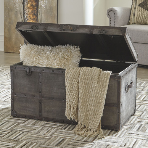 Ashley Amsel Gray Storage Trunk
