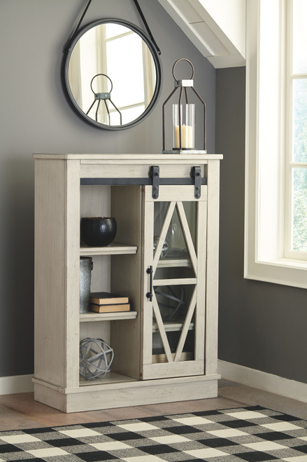 Ashley Bronfield White Accent Cabinet