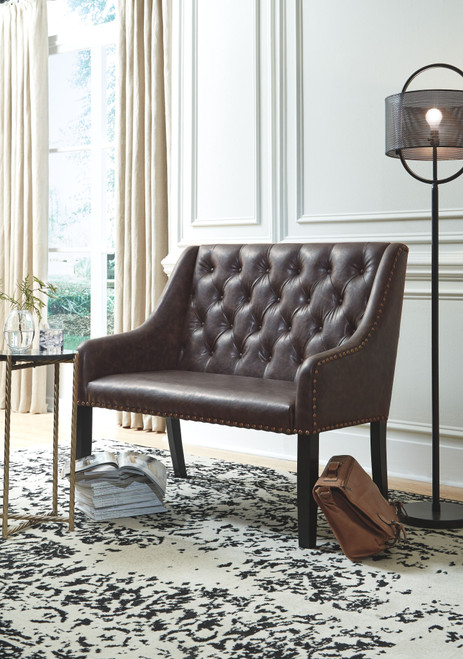 Ashley Carondelet Brown Accent Bench