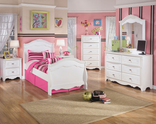 Ashley Exquisite White Two Drawer Night Stand