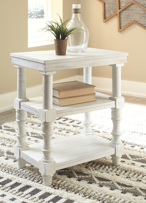 Ashley Dannerville Antique White Accent Table