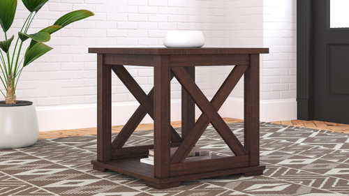 Ashley Camiburg Warm Brown Square End Table