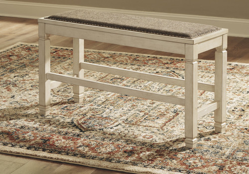 Ashley Bolanburg Two-tone Double Counter Upholstered Bench (1/CN)