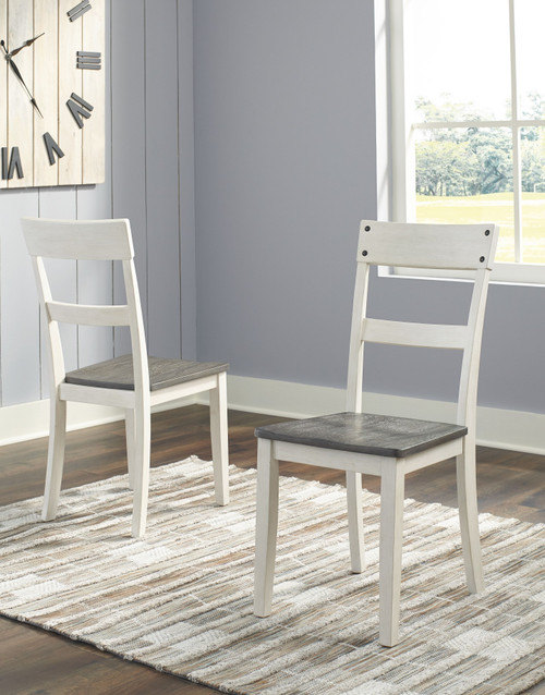 Ashley Nelling Two-tone Dining Room Side Chair (Set of 2)