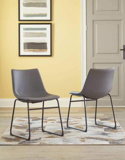 Ashley Centiar Gray Dining Upholstered Side Chair (Set of 2)