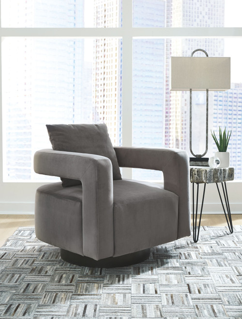 Ashley Alcoma Otter Swivel Accent Chair