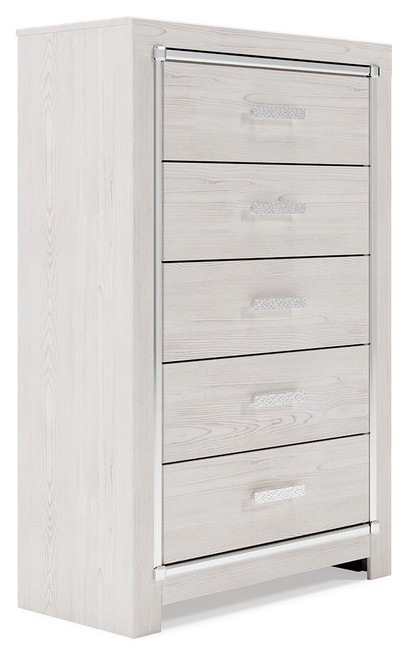 Ashley Altyra White Five Drawer Chest
