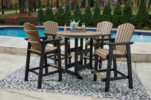Ashley Fairen Trail Black/Driftwood 5 Pc. Dining Set with 4 Chairs