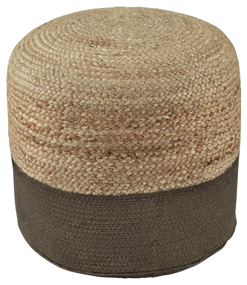 Ashley Sweed Valley Natural/Charcoal Pouf