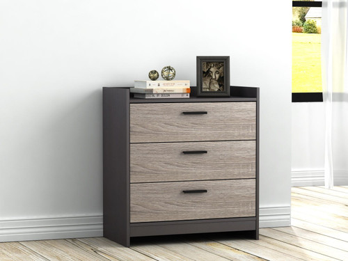 Ashley Central Park Two-tone Three Drawer Chest