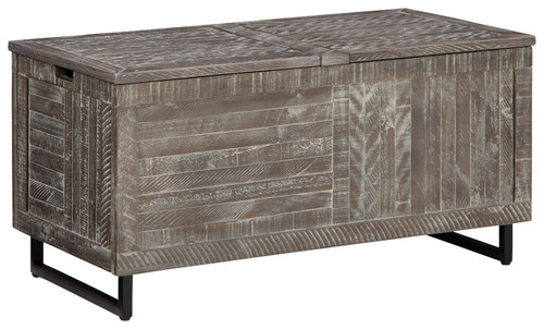 Ashley Coltport Distressed Gray Storage Trunk